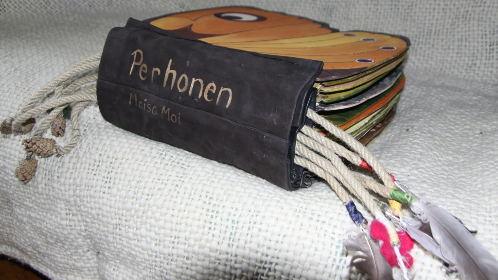 """""""Perhonen"""" Butterfly touching book for children is situated in Celia-library in Helsinki"""